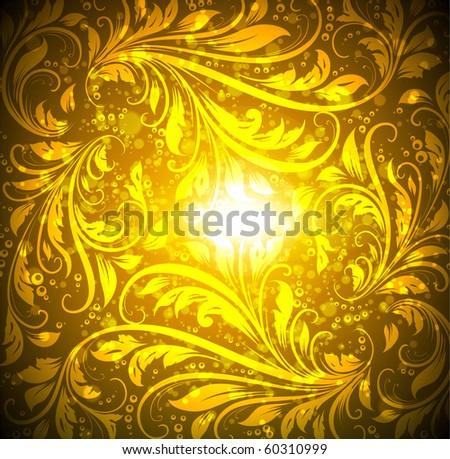 gold wallpaper. Seamless gold wallpaper