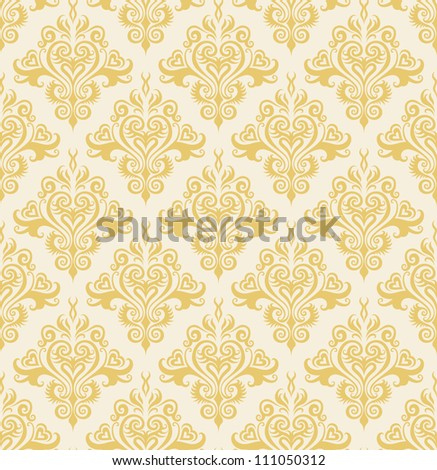 seamless gold wallpaper vector