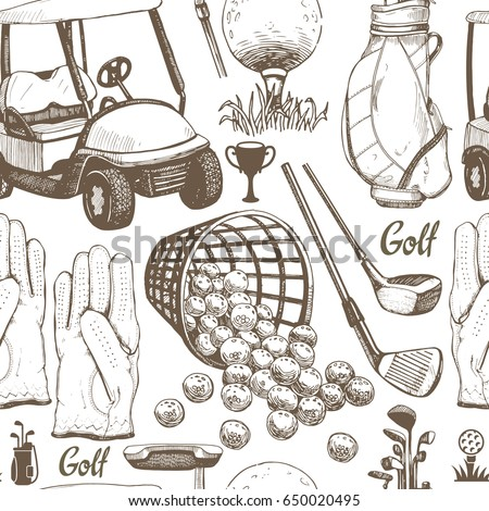 seamless golf pattern with