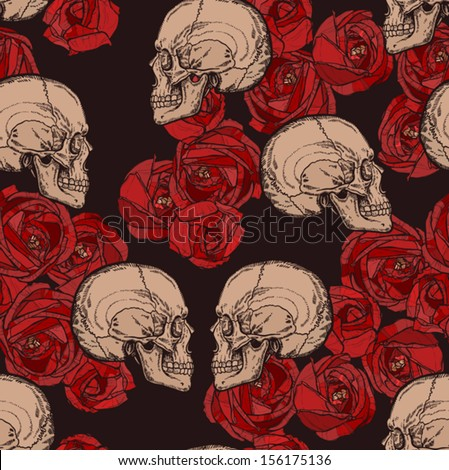 seamless gothic pattern with