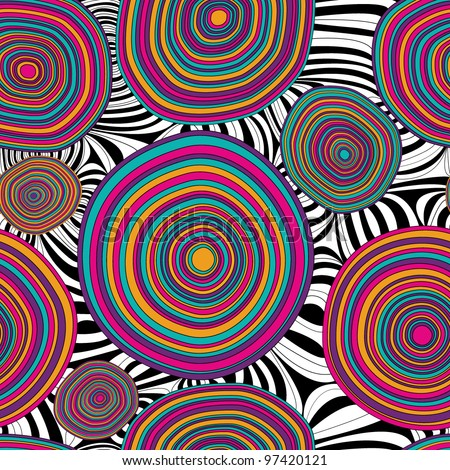 Seamless graphic colorful pattern