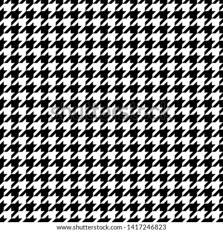 Seamless Graphic Houndstooth Pattern Black And White Foto stock ©
