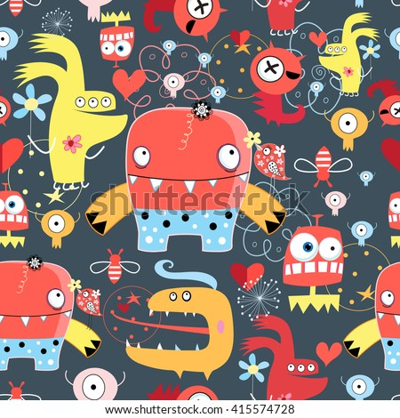 seamless graphic pattern of