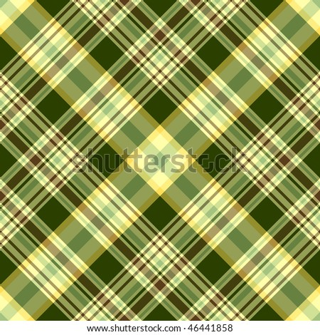 Seamless green and yellow diagonal pattern (vector) EPS 10