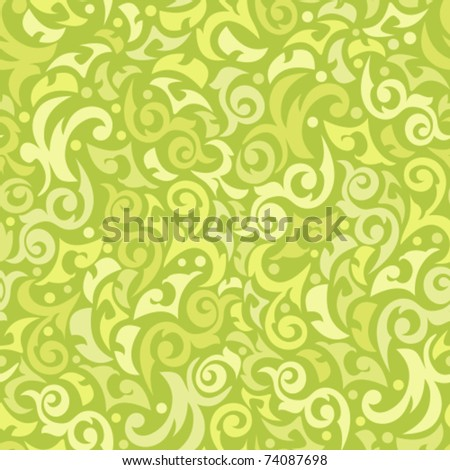 Seamless green background with monograms