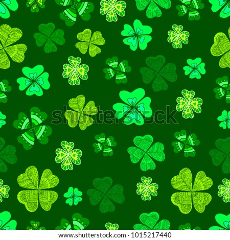 seamless green clover leaf