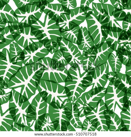 seamless green leaf pattern, foliage vector background #510707518
