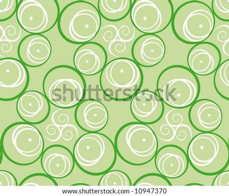 Seamless green pattern