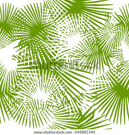 seamless green silhouettes of