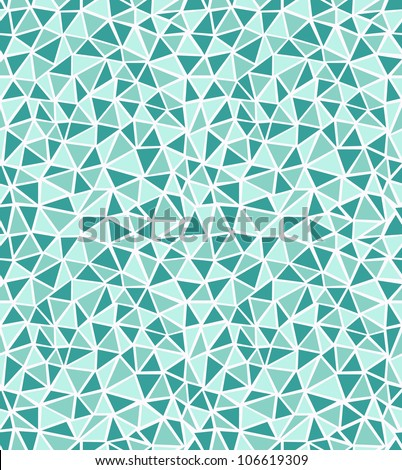 Seamless green triangle background. Vector illustration