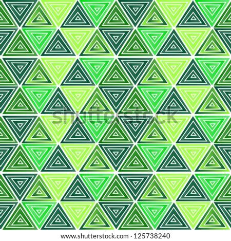 seamless green triangle pattern, eps 10