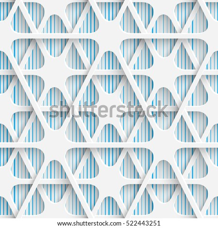 Seamless Grid Pattern. Abstract Contemporary Background. Modern Tile Wallpaper. 3d Structure Design