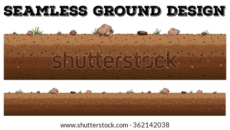 Seamless ground surface design illustration Сток-фото ©