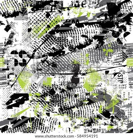 seamless grunge geometric