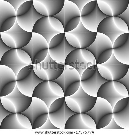 Seamless halftone black and white circle background
