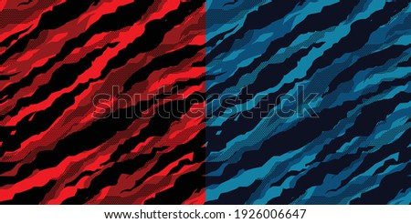 Seamless halftone camouflage abstract pattern, Military Camouflage pattern design element for Army background, printing clothes, fabrics, sport t-shirts jersey, web banners, cards and wallpapers