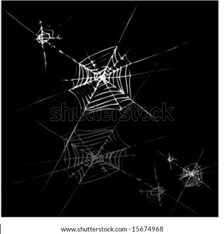 Seamless halloween illustration with spider web on black background for design. Easy to repeat and scale. JPG vers. in my port