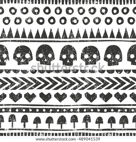 seamless halloween pattern in