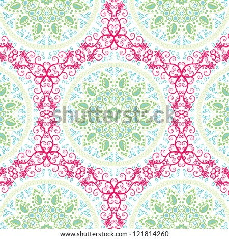 seamless hand drawn floral pattern background