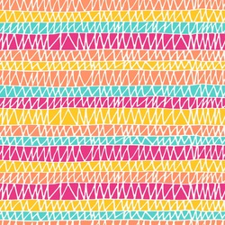 Seamless hand drawn pattern in bright colors. Vector illustration