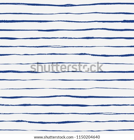 Seamless hand drawn striped pattern