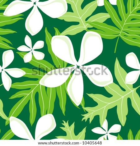 seamless hawaiian fern  lauae