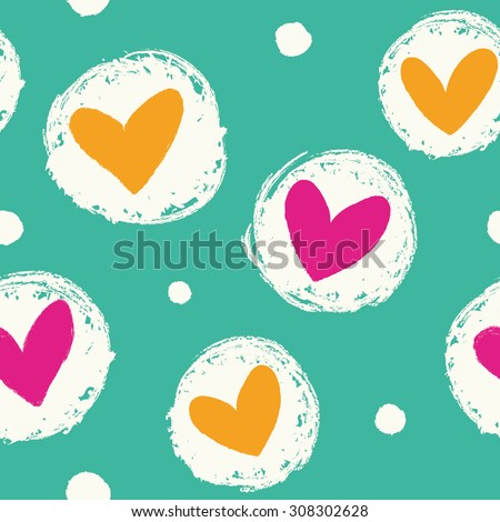 seamless heart background in