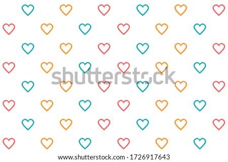 seamless heart pattern blue