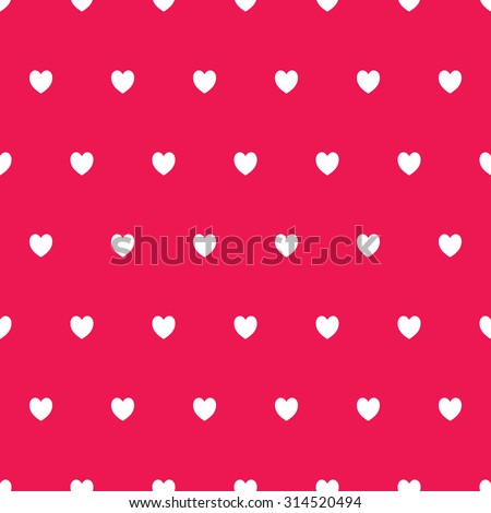 Seamless Heart Pattern In Black And Pink Retro Background Design Element For Wallpaper