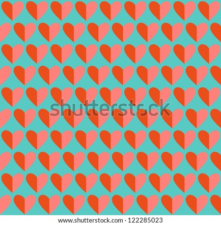 Seamless heart pattern. Valentines day romantic background. Vector illustration