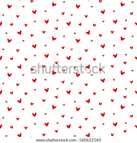seamless heart pattern vector illustration