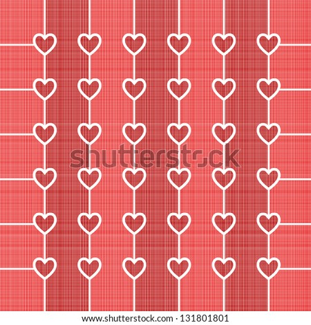 Seamless hearts background with retro texture