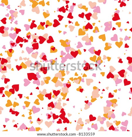 seamless hearts pattern. Select all the art and drop it into your swatches palette to create an Adobe Illustrator pattern.