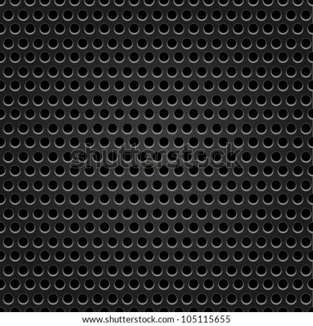 Seamless hexagon metal background with light reflection