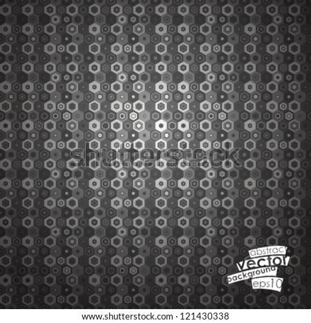Seamless hexagon pattern. Vector illustration.