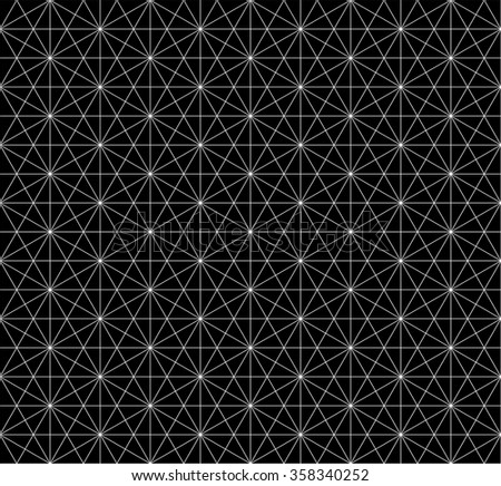 seamless hexagon pattern with monochrome.wire frame pattern