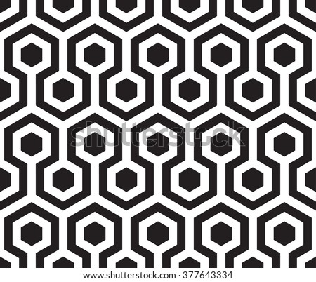 Seamless hexagon vector pattern