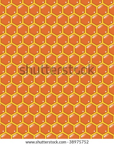 seamless honeycomb vector pattern