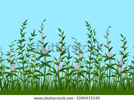 seamless horizontal background