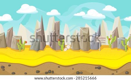 seamless horizontal desert