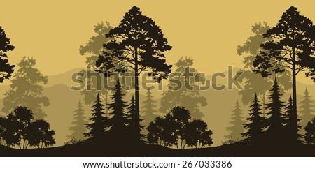 seamless horizontal landscape