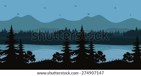 seamless horizontal night