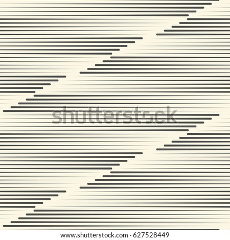 Seamless Horizontal Stripe Background. Minimal Wrapping Paper Design. Abstract Black and White Texture