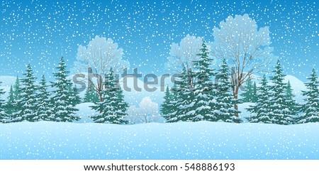 seamless horizontal winter