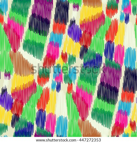 seamless ikat pattern with