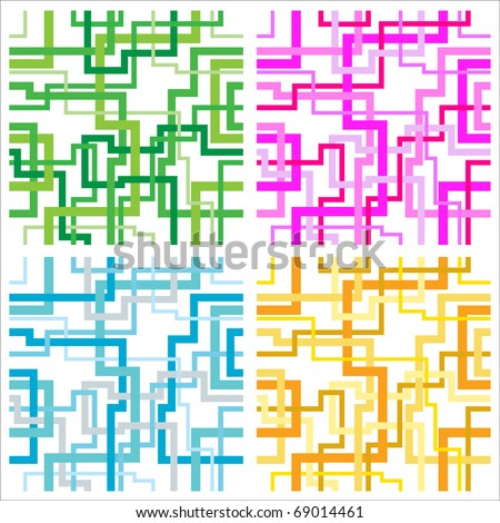 Seamless interweaving lines pattern vectors
