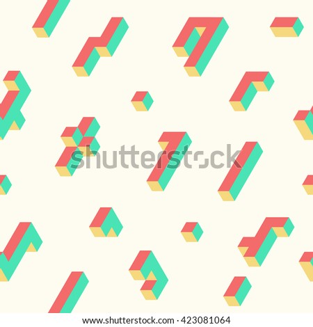 seamless isometric pattern
