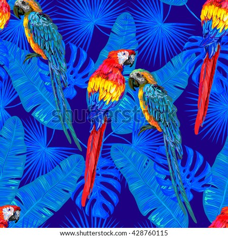 seamless jungle tropical