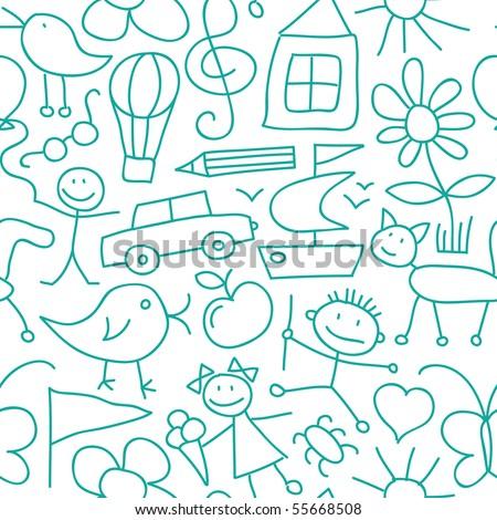 Seamless Kid Pattern