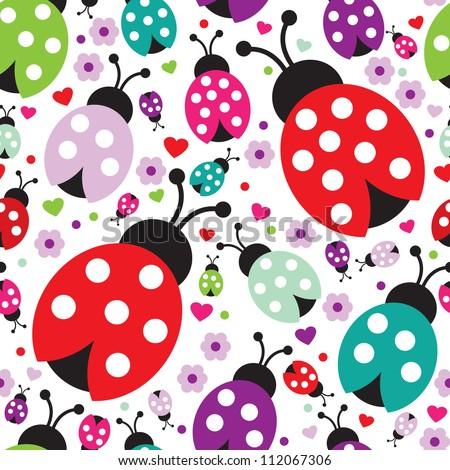 seamless kids lady bug polka